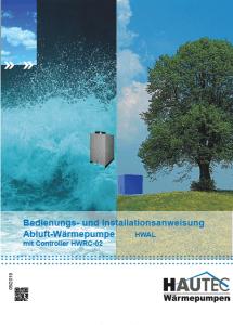 Bedienungsanleitung Abluft Warmwasser HWAL 2019