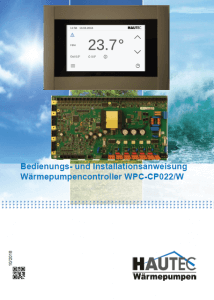 Bedienungsanleitung Controller HFB AP 420