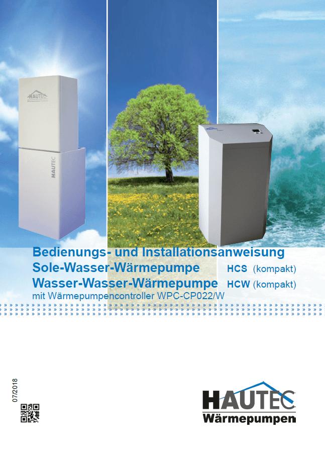 Bedienungsanleitung Sole Wasser HCW HCS 2019