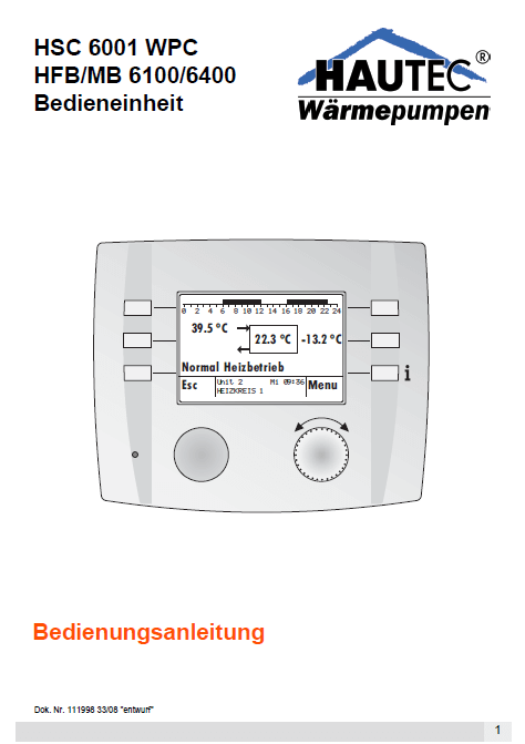 Bedienungsanleitung Controller HSC6001