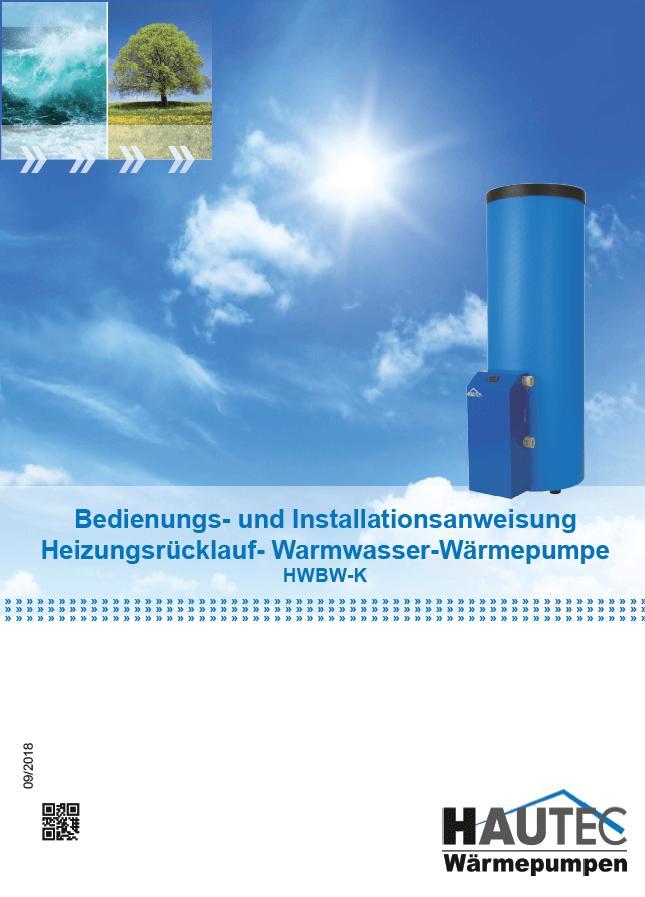 Bedienungsanleitung Warmwasser HWBW-K 2018